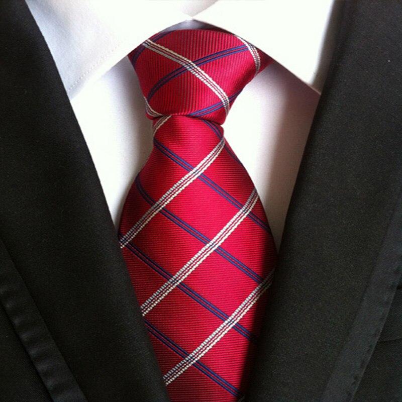 Мужские галстуки, классические жаккардовые тканые галстуки с пейсли шириной 8 см, галстуки из полиэстера, деловые галстуки, мужские аксессу...