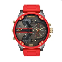 Luxury brand DZ 7430 men's watch fashion style dress wristwatches stainless steel strap quartz dual