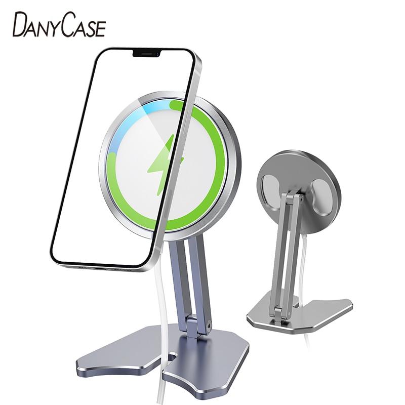 Desktop MagSafe Phone Holder Adjustable Phone Charger Stand For iPhone 12 Pro Max Mini Mount Foldabl