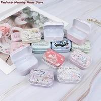 2pcs tin metal box sealed jar packing boxes jewelry candy box headphones box