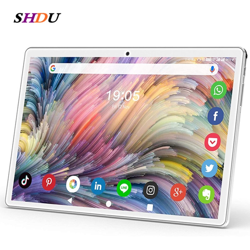 Tablet Pc 10.1 inch Android 10.0 Tablets 32GB ROM Octa Core Google Play 3g 4g LTE Phone Call GPS WiFi  Bluetooth 10 8 7 tablets 10 1 inch octa core android 9 0 tablets 4g lte phone call tablet pc 2gb ram 32gb rom wifi google play gps dual sim card 1280 800