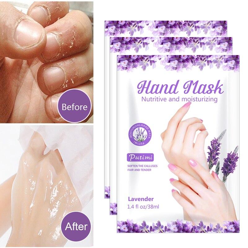 10Packs Exfoliating Hand Masks Wax Peel Moisturizing Spa Gloves Whitening Hand Mask Cream Hand Scrub Remove Dead Skin Hand Care
