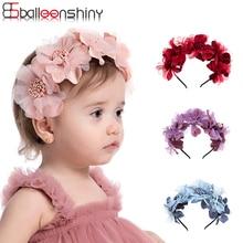 BalleenShiny-Diadema de corona para bebé y niña, accesorios para el cabello de princesa, accesorios florales para niña de 0 a 3 años, herramientas para fotos