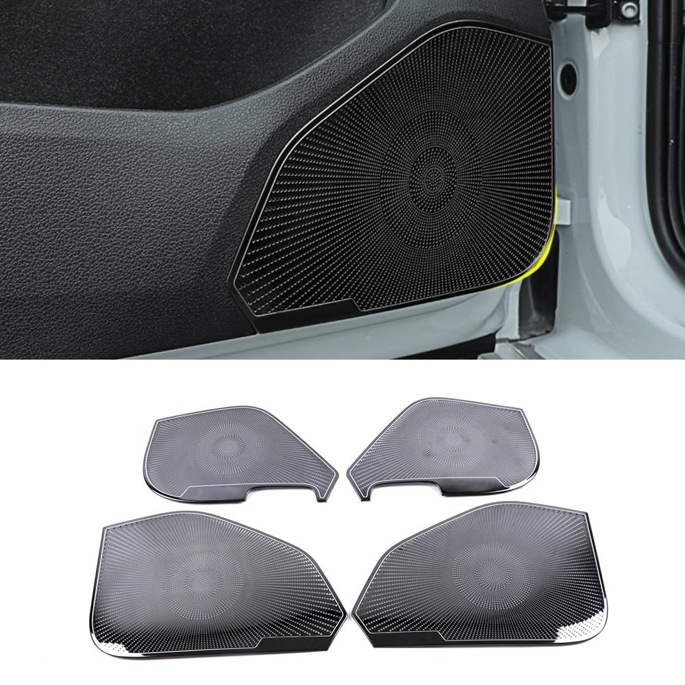 Für Volkswagen VW Golf Mk7 7,5 2013-2020 Edelstahl Auto Tür Panel Lautsprecher Pad Lautsprecher Abdeckung Trim Rahmen Aufkleber zubehör