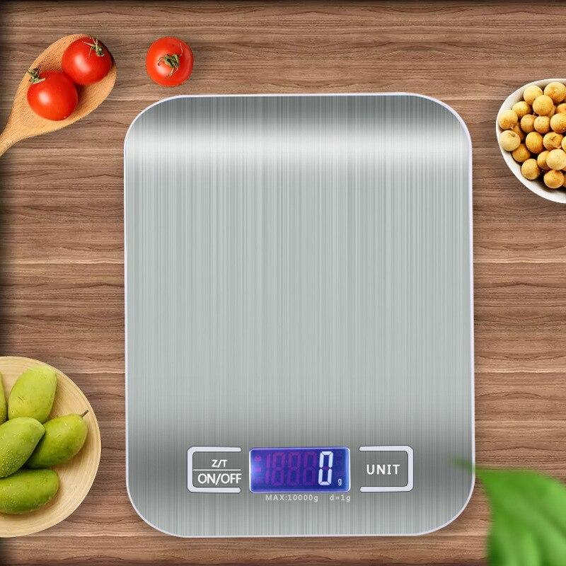 Кухня весы 5/10 кг ЖК-дисплей Дисплей цифровые весы электронные инструменты для взвешивания Аксессуары для выпечки измерительный инструмент...