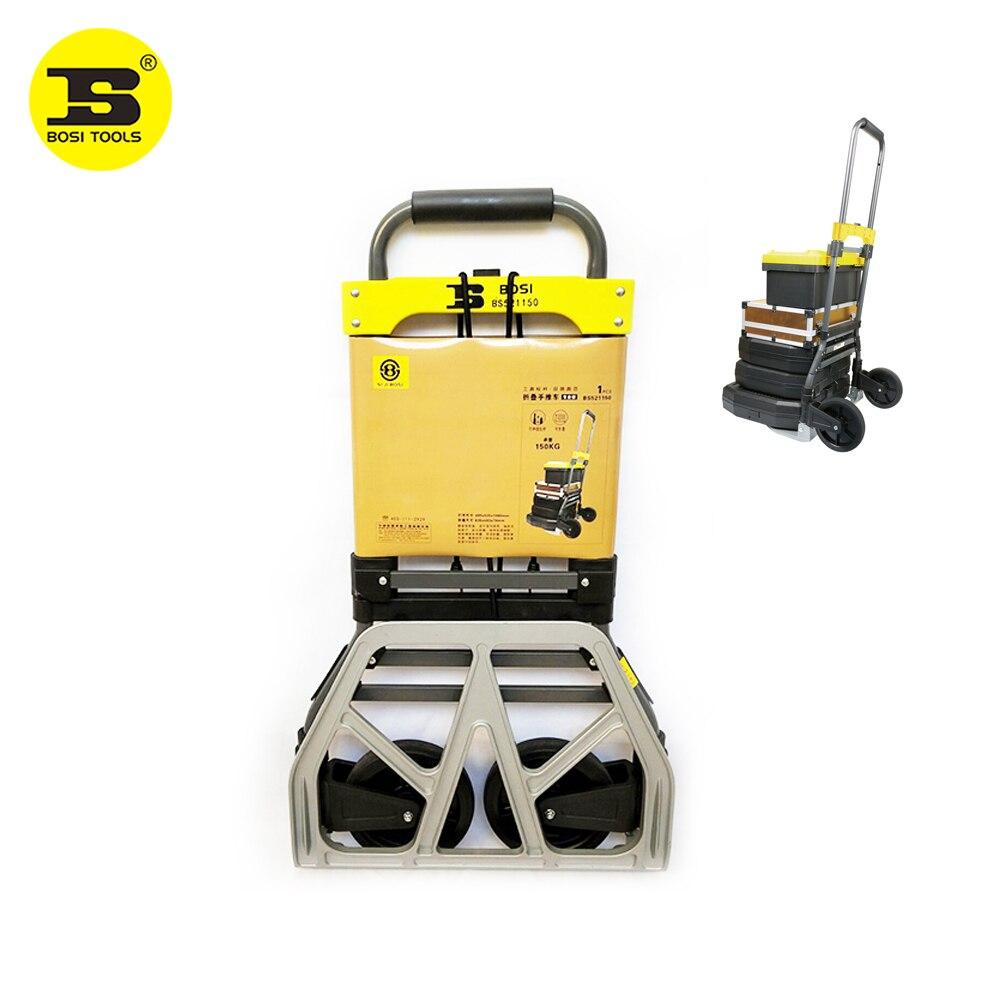 BOSI-عربة يد قابلة للطي ، سعة تحميل 150 كجم ، 330 رطلاً