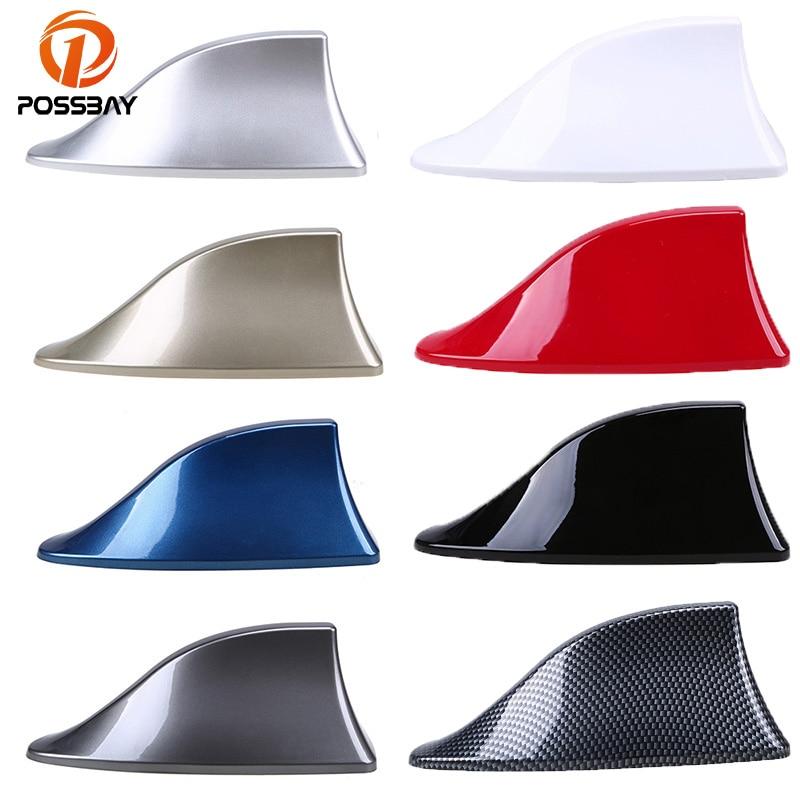 Antenas universales POSSBAY para coche, antenas de señal Shark, decoración para techo de coche para Hyundai Kia Honda Toyota, pegatinas