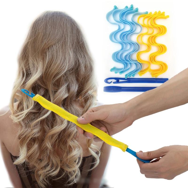 12PCS DIY Magic Hair Curler 30CM Portable Hairstyle Roller Sticks Durable Beauty Makeup Curling Hair