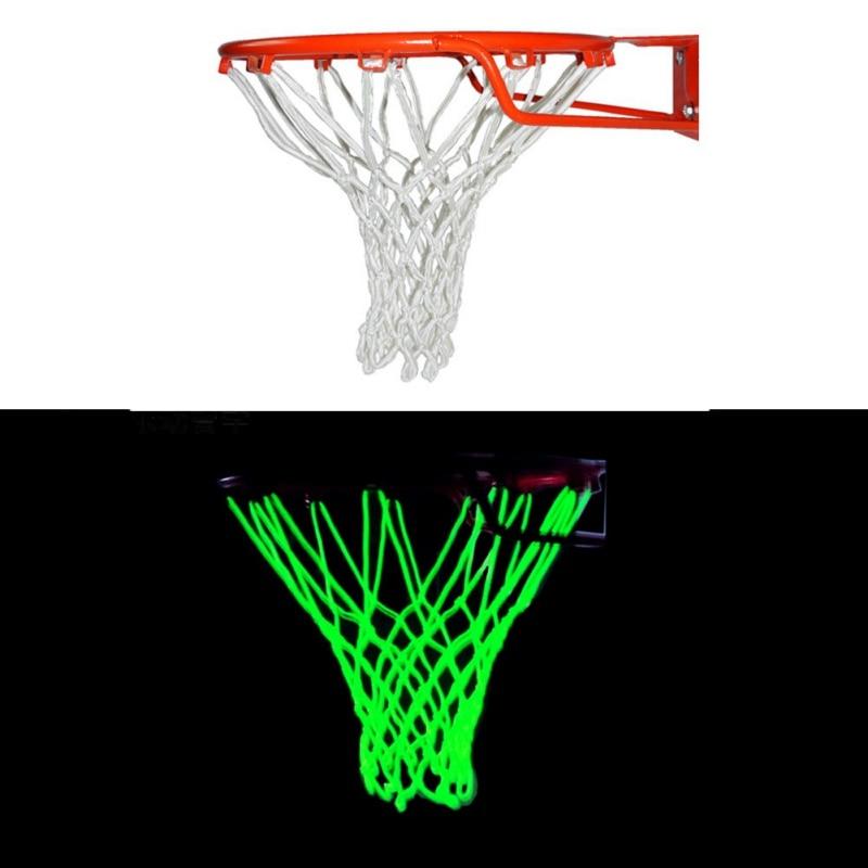 Фото - 1 Pc Night Light Up Basketball Net Heavy Duty Glowing Light Luminous luminous basketball net light up basketball net fluorescent basketball hoop mesh net glowing light basketball supplies