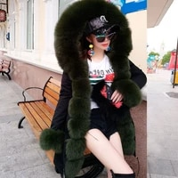 2021 of down jacket liner fur collar winter thickened warm jacket womens middle and long