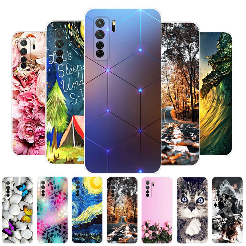 "Funda For Honor 30S Funda Huawei Honor 30S Funda de silicona con cubierta trasera suave Funda para teléfono Honor 30S CDY-NX9B 6.5 ""Etui Coque Bumper Capas"