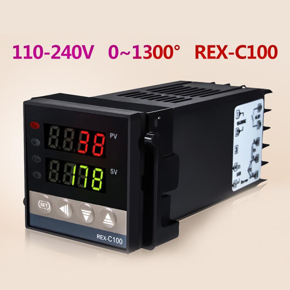 3/4 Uds AC100-240V RECX-C100 controlador de temperatura controlador PID SSR de alambre de termopar conjunto