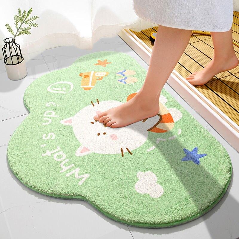 الحمام الحصير أبواب الحمامات ماصة عدم الانزلاق الحصير الحمام المرحاض غرفة نوم ممسحة الأحذية عند الباب السجاد الكرتون البساط