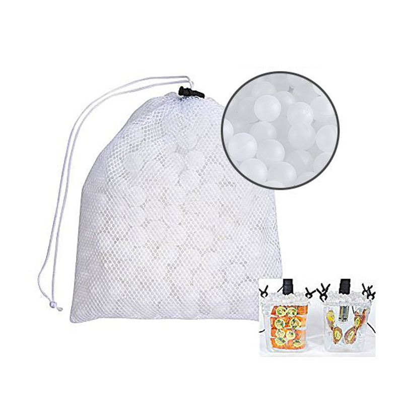 Bolas de cocina Sous Vide sin BPA 20mm 250 bolas con bolsa de secado de malla para ollas de agua Joule Baño de cocina y Sous Vide Co