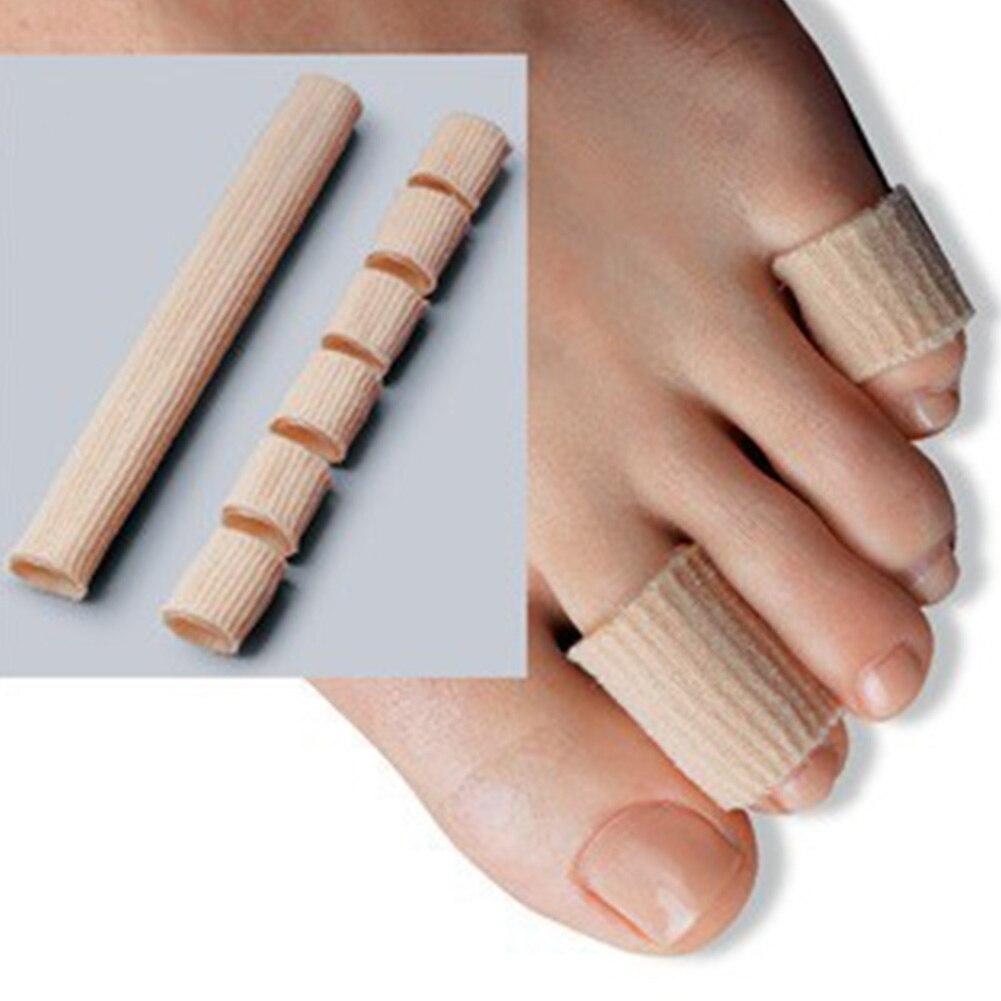 Tela caqui + Gel cojín de tubo callos y callos plantillas cuidado de los pies Protector ortopédico para hallux valgus protección para juanete #1227