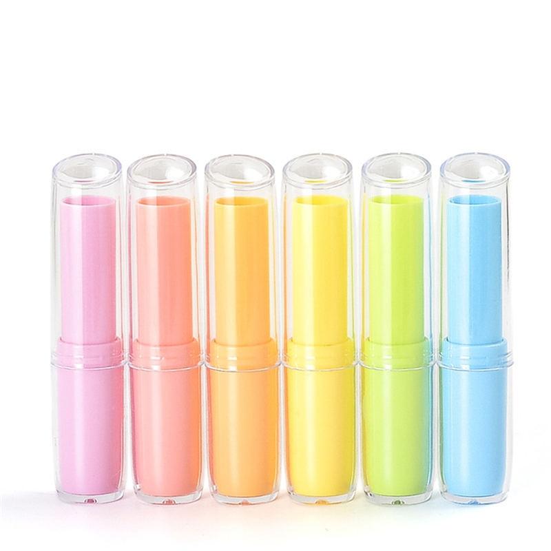 5 unids/lote barra de labios exfoliante brillo tubo fresco contenedores de bálsamo labial cosméticos vacíos Contaniers loción adhesiva Stick Clear Travel Accessories