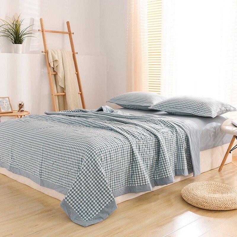 4/6 قطعة رقيقة لحاف الصيف خفيفة الوزن المعزي ، 100% القطن آلة قابل للغسل ، لينة مريح تنفس ل الصيف غطاء سرير المخدة