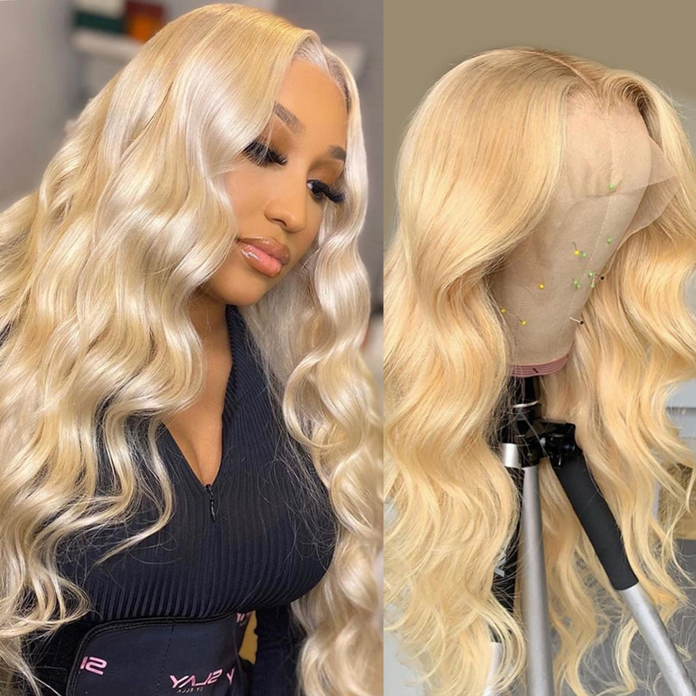 613 Lace Frontal Wig Blonde Lace Front Wig Human Hair Wigs For Black Women Brazilian Hair 30 Inch Bo