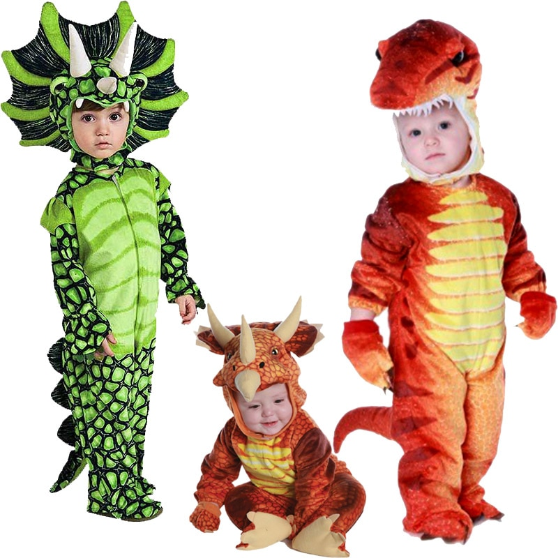 Boys Anime Triceratops Cosplay Costume Carnival T-Rex Dinosaur Costumes Child Jumpsuit Halloween Purim Party Costumes for Kids halloween purim costumes for kids girls carnival the king prince costume for boy boys children fantasia infantil cosplay child