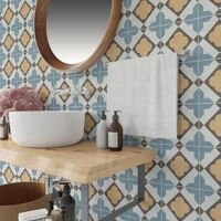 Carrelage mural colore retro de Style marocain  Stickers muraux  pour cuisine  salle de bains  autocollants faciles a poser  20 30cm  10 15 20 30cm