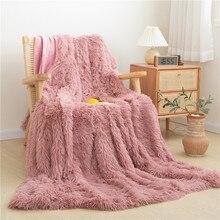 Longue peluche Ultra doux chaud canapé couverture lit couverture ensemble enfants adolescents jeter couverture réversible couvre-lit oreiller shams Twin Full Queen