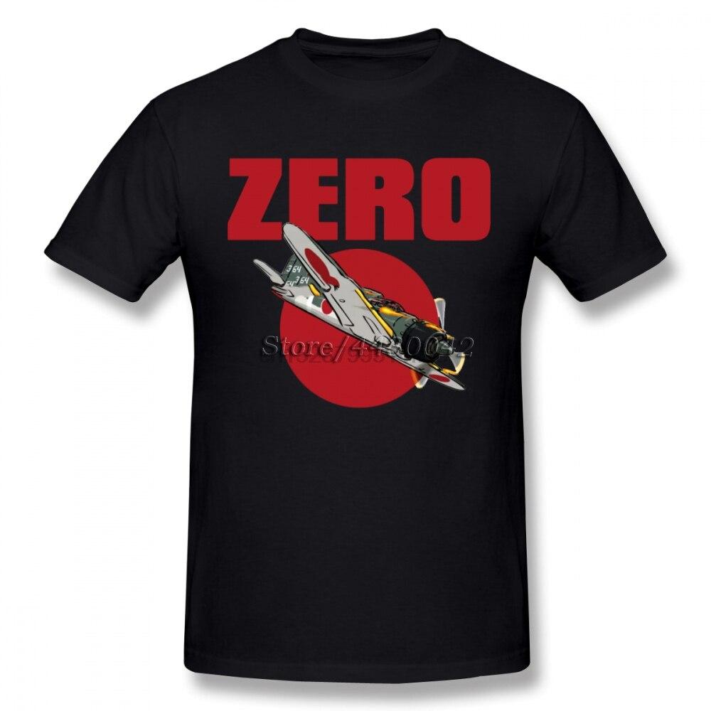 A6m helicóptero cero Camiseta para hombres talla grande algodón equipo Camiseta 4XL 5XL 6XL Camiseta