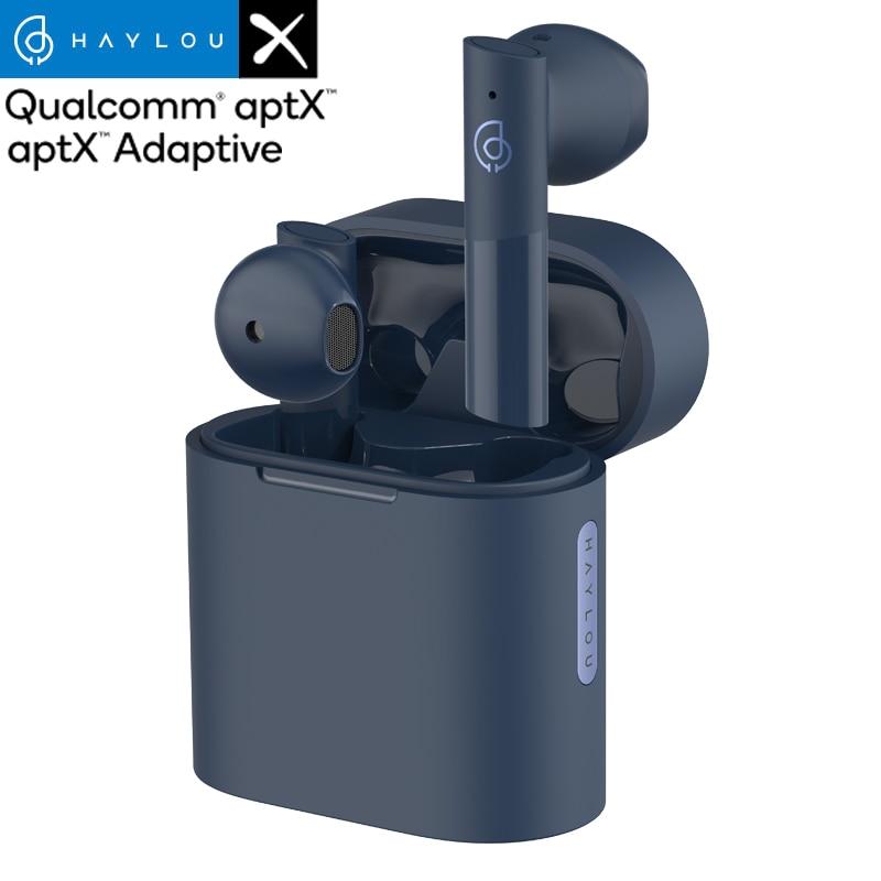 Haylou MoriPods Qualcomm QCC3040 wireless earphone Bluetooth V5.2 headset TWS headphone aptX adaptive AAC 4 microphones earbuds