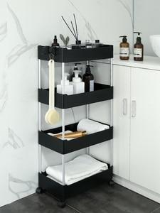 commodity shelf  Bathroom storage rack Portable trolley Bedroom rental Transform the artifact Small furniture  makeup box