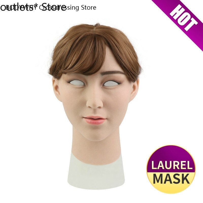 Silicone Mask Transgender Realistic Skin Crossdresser Silicone Shemale Latex Sexy Cosplay for Male Halloween Party Supplies