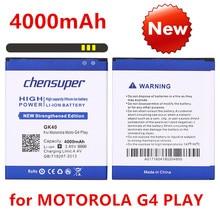 Chensuper 100% testé haute qualité 4000mAh batterie pour MOTOROLA MOTO G4 PLAY XT1600 XT1609 XT1607 GK40 pour MOT1609BAT M0T1609BAT