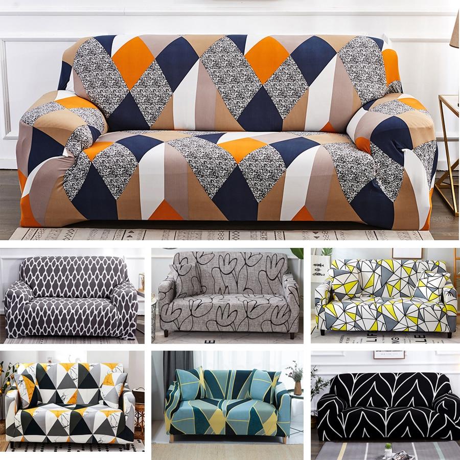 1/2/3/4/ Seat Slipcovers Sofa Cover Cotton Elastic Sofa Cover for Living Room Couch Cover Sofa Towel housse de canapé