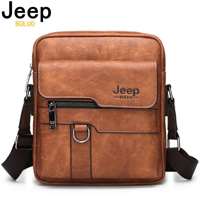 JEEP BULUO Luxus Marke Männer Messenger Taschen Crossbody Business Casual Handtasche Männlichen Spliter Leder Schulter Tasche Große Kapazität