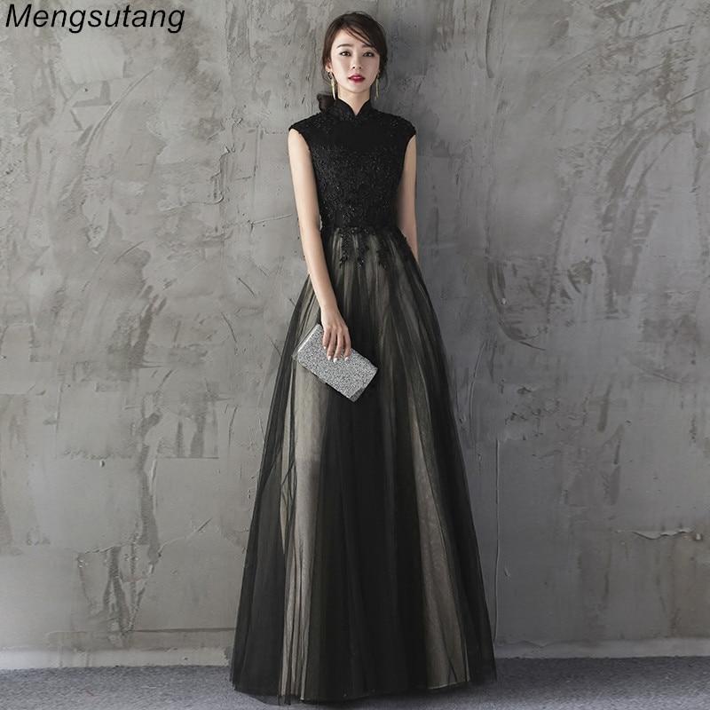 فستان سهرة طويل مطرز بالخرز على الطراز الصيني ، 2021 ، رقبة على شكل v ، طويل ، دانتيل ، نحيف ، مثير ، فستان سهرة