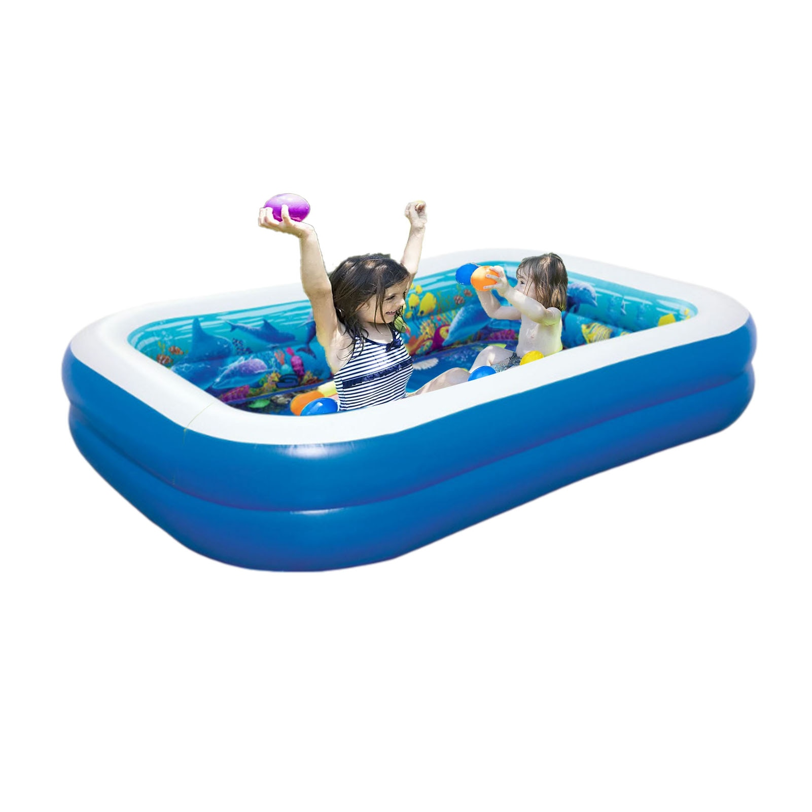 حمام سباحة قابل للنفخ الأسرة المياه متعة بركة للأطفال حديقة الصيف في الهواء الطلق الاطفال التجديف بركة كبيرة الحجم
