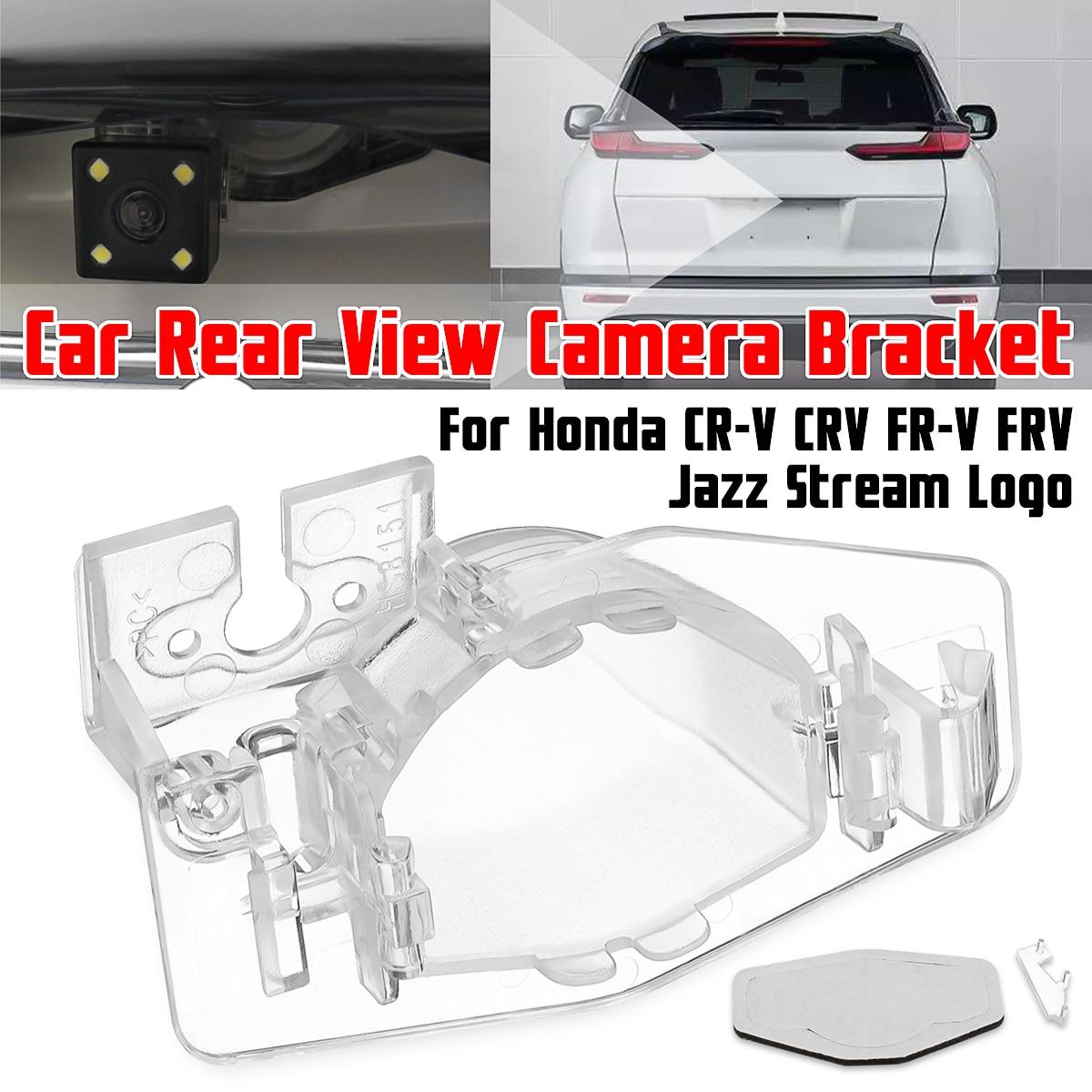 Estacionamento Rear View Camera License Plate Bracket Caso Capa Habitação de Montagem para Honda Para CR-V CRV FRV FR-V Jazz fluxo de Logotipo
