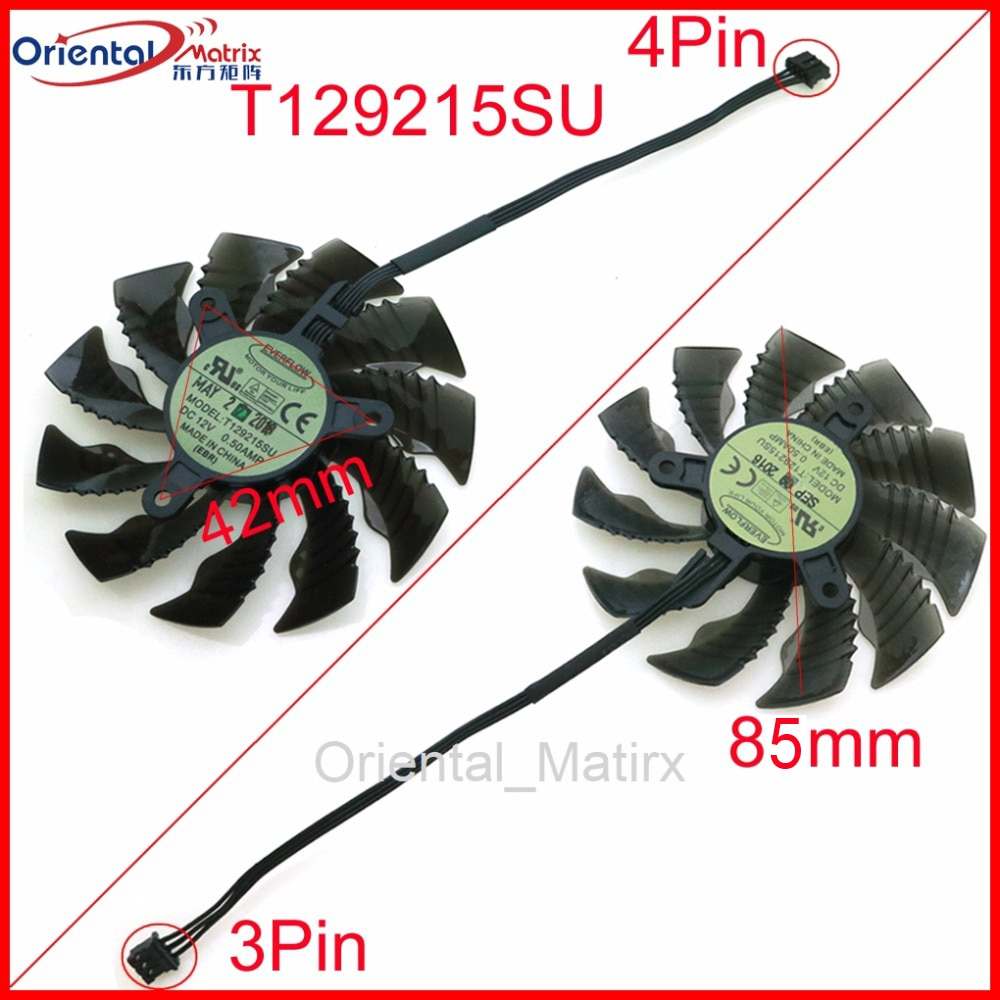 free shipping t128010sm 75mm dc12v 0 20a 40 40 40mm for gigabyte graphics card cooler cooling fan Free Shipping T129215SU 12V 0.50A 42*42*42mm 85mm VGA Fan For Gigabyte Graphics Card VGA Cooler Cooling Fan