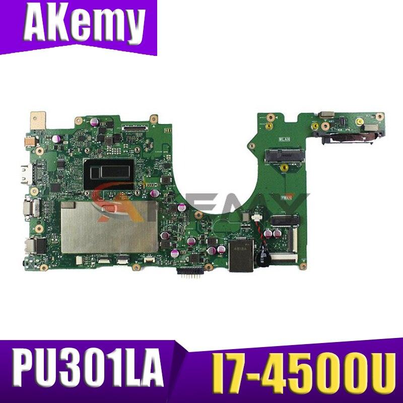 PU301L اللوحة الرئيسية ل ASUS PU301LA PU301L I7-4500U اللوحة الأم المحمول REV2.0 اختبار العمل 100% اللوحة الأم الأصلية