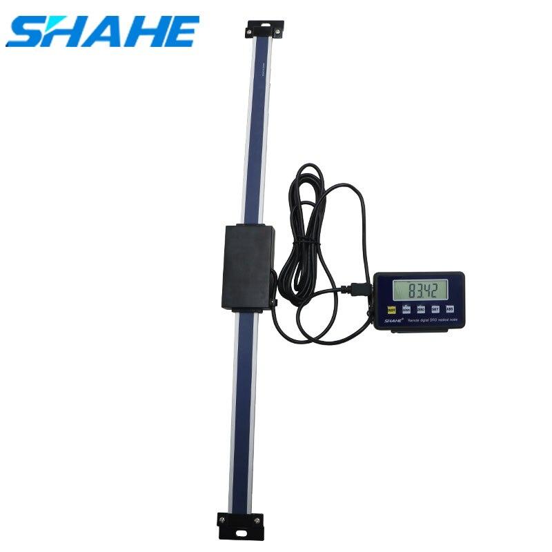SHAHE 0-500 milímetros Escala Linear Digital de Leitura com Base Display LCD Monitor Externo régua display de leitura digital remoto