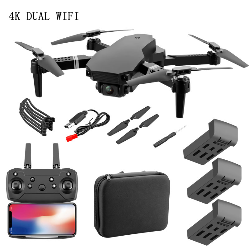S70 Drone 4K HD Camera Foldable WIFI FPV 1080P Real-time Transmission Drop Resistance 2.4G Remote Control Multi-electric Version