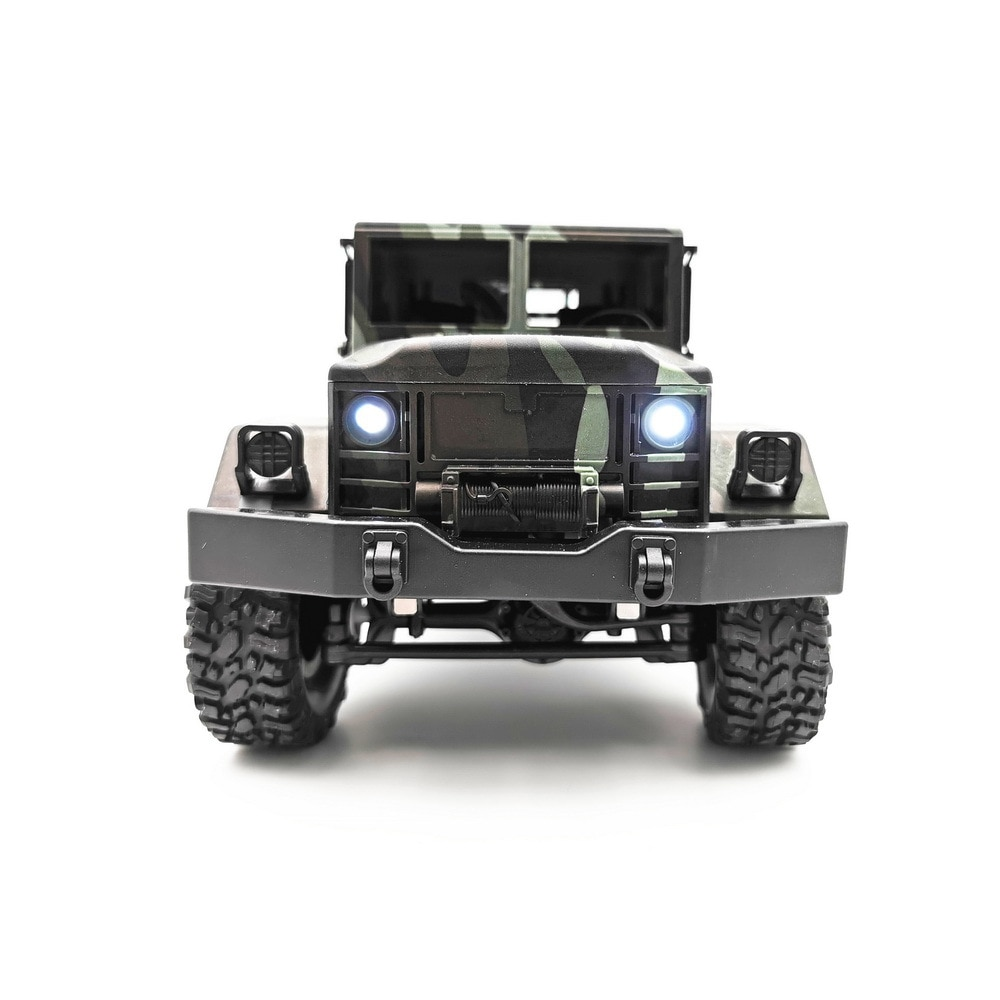 MN77 1/16 2.4G 4WD RC Car with LED Light Camouflage Military Off-Road Truck RTR Toy 35km/h High Speed Car for Kids Gifts enlarge