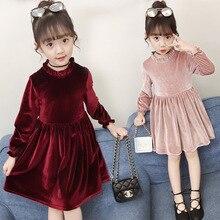 2019 New Baby Girl Autumn Dress Kids New Arrival Dress Children Top Silver Fox Toddler Lace Ruffles Dress Soft Comfortable