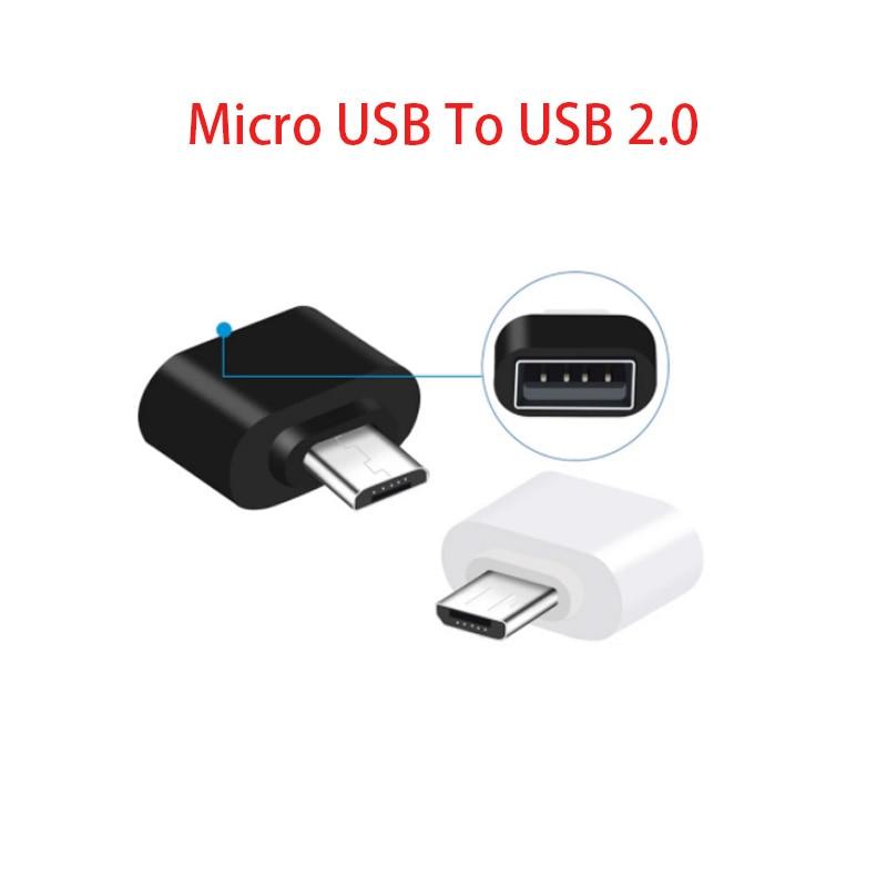 Mini convertidor de datos OTG, Cable convertidor USB 2,0 OTG macho a...