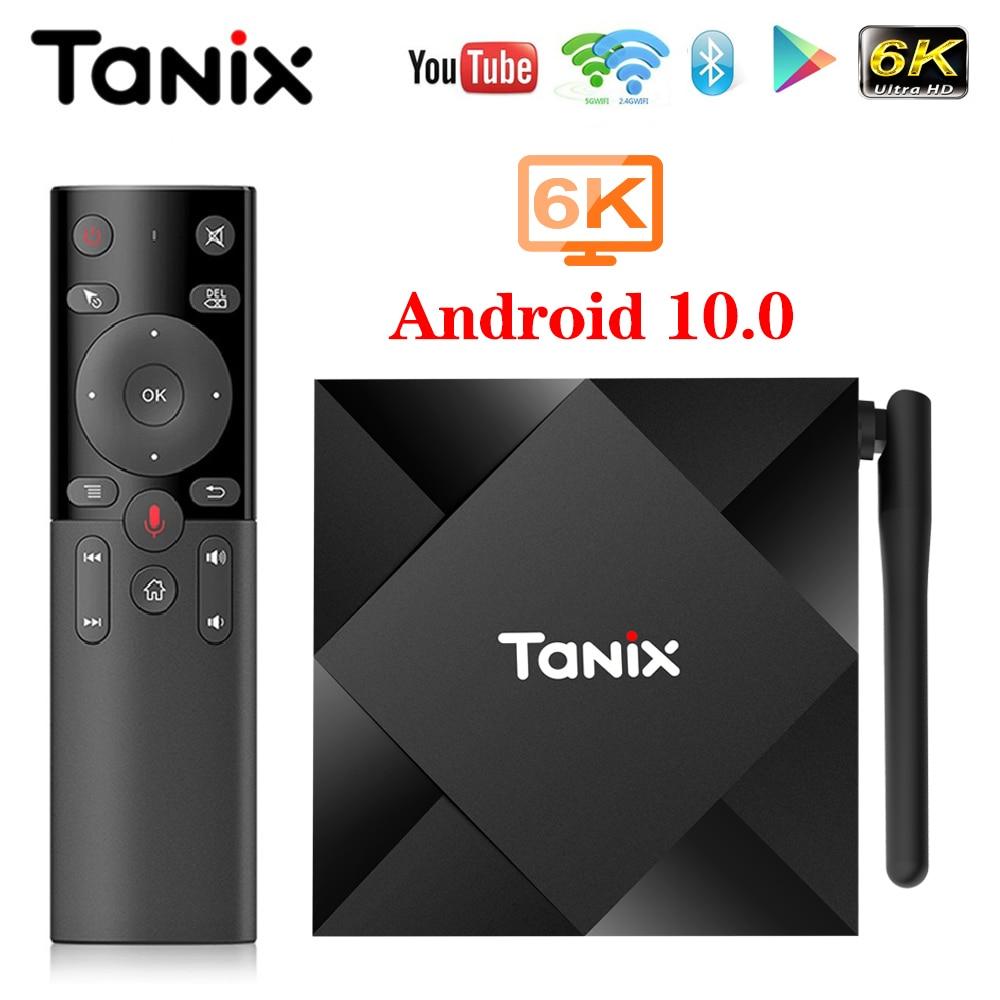 TV Box Android 10 Tanix TX6S 4GB 64GB Allwinner H616 Quad Core 6K H.265 Dual Wifi Google-player Set-Top Box TX6 Android 10,0