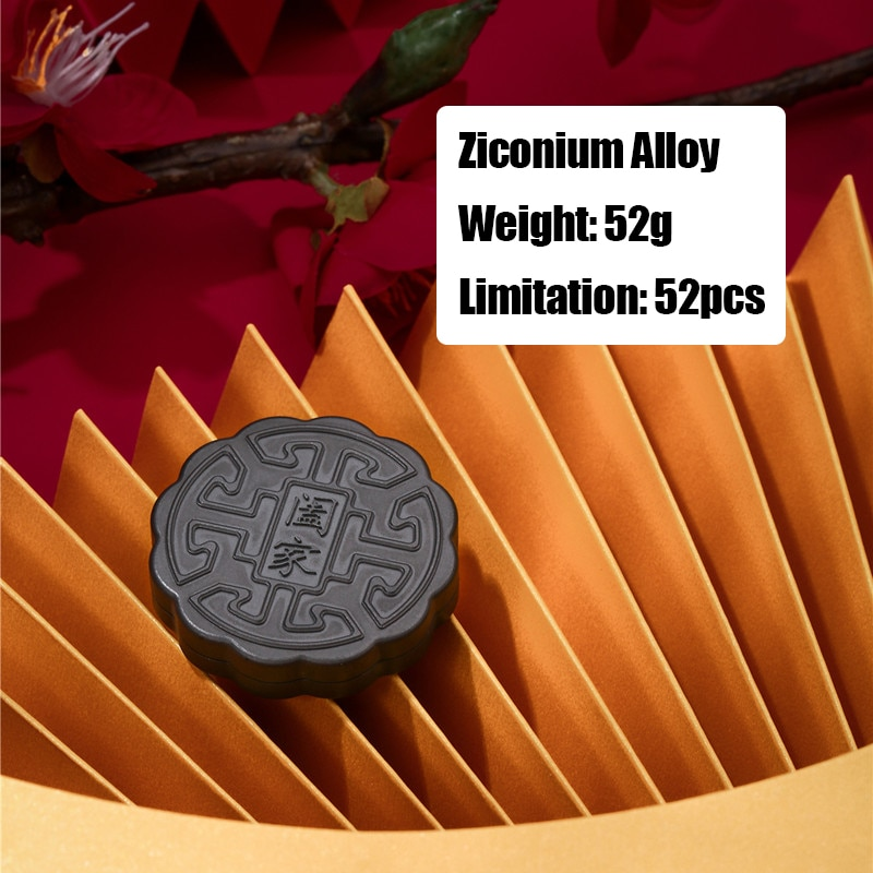 ACEdc Mid-Autumn Festival Moon Cake Mini Snap Coin Fingertip EDC Decompression Toy enlarge