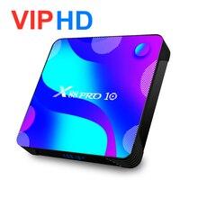 Tv Box z androidem 8K IPTV X88 Pro Android 10 Top Box 16GB Android box 32GB 64GB Smartbox Tv RK 3318 HEVC 4K Moive X88 Pro 10 Tv Box