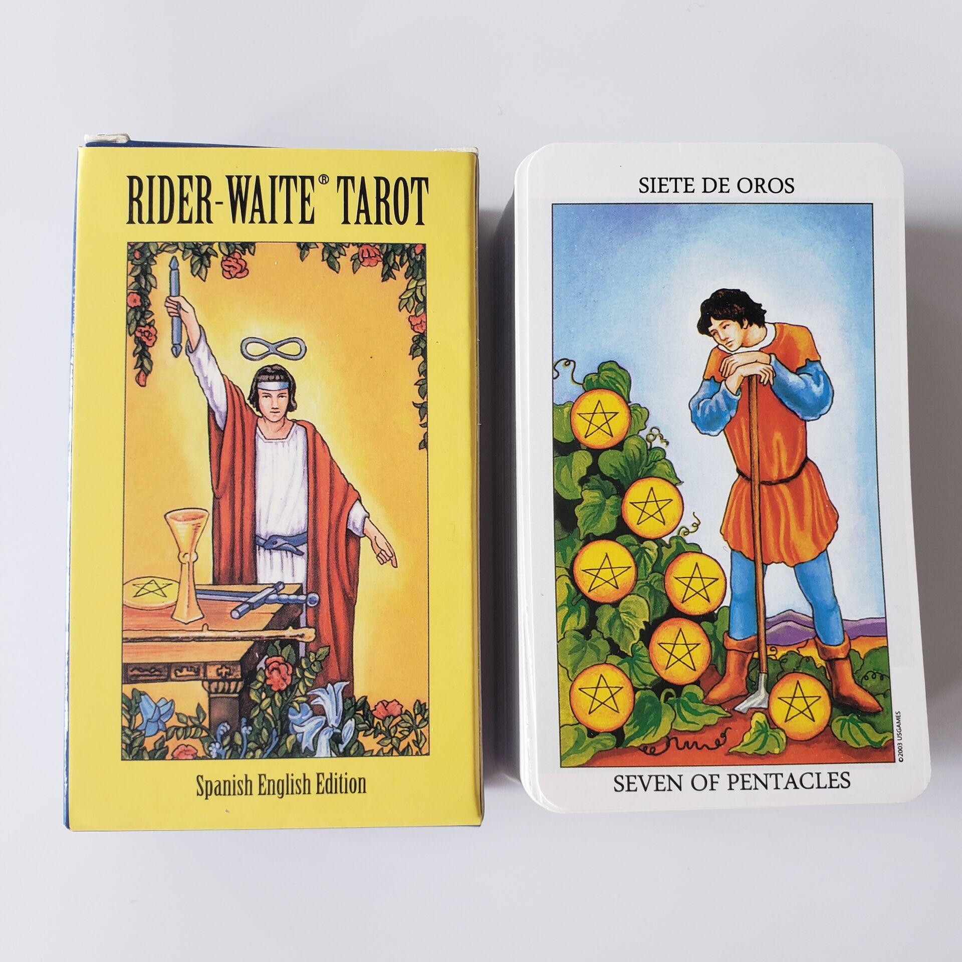 Gran oferta 2020, tarjetas de Tarot de espera para jinete español inglés, hechas en fábrica, juego de cartas oráculo 78 unids/set