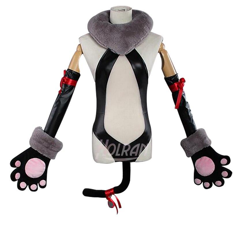 Disfraz de cosplay de Anime funda Fate/kaleid Prisma Illya Illyasviel von Einzbern, Top con orejas de gato, guantes para fiesta de Halloween