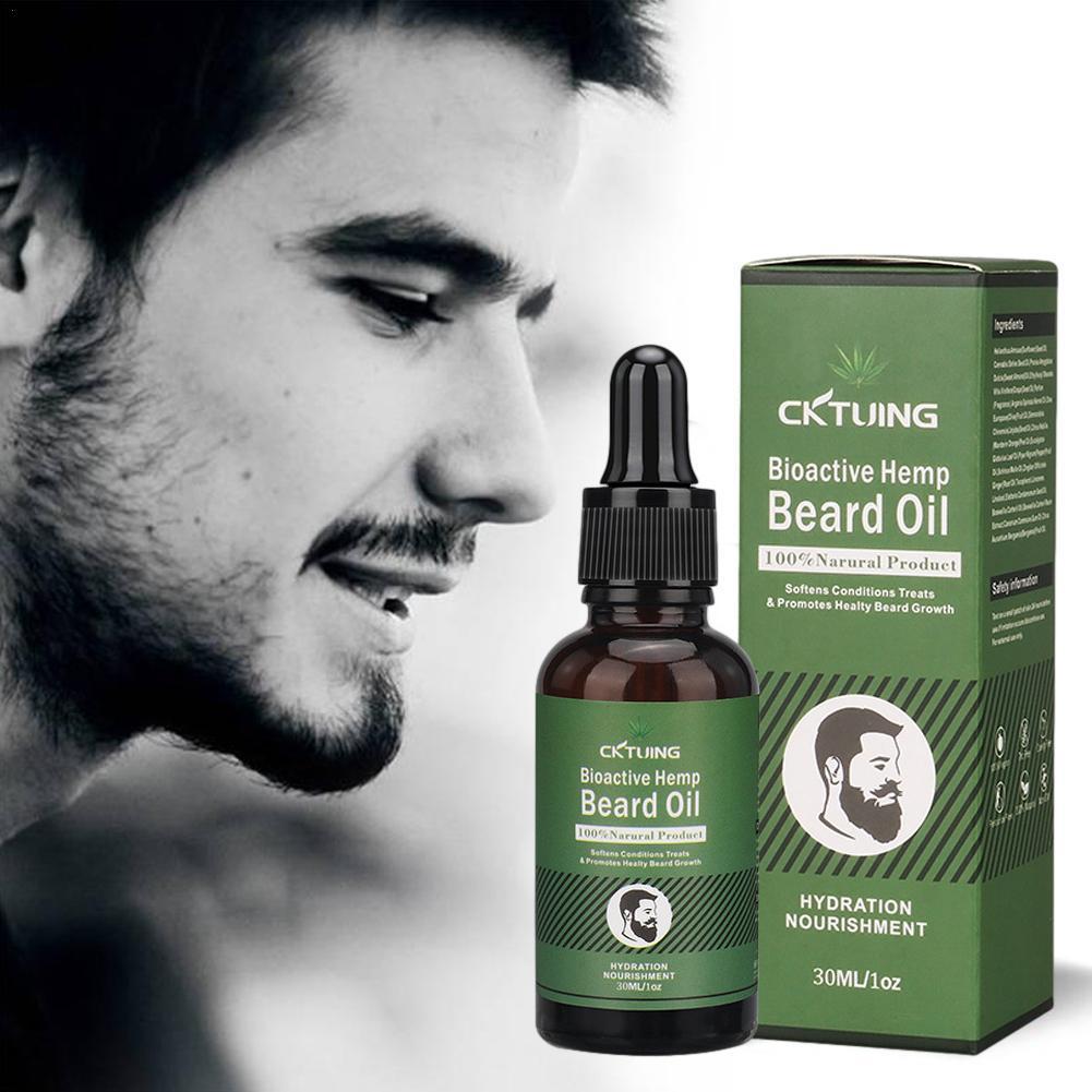 Aceite de crecimiento de barba para hombre, Extracto de planta Natural para...