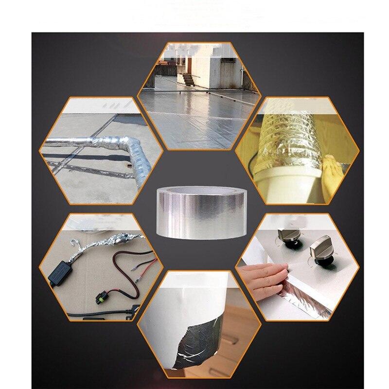 30 سنتيمتر x 20m الألومنيوم احباط الشريط الحرارية مقاومة القناة إصلاحات عالية درجة الحرارة مقاومة احباط لاصق إصلاح أدوات