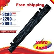 2200mAh haute capacité batterie dordinateur portable A41-X550 A41-X550A Pour ASUS X550L X450 X450C R409CC X552E K5 X550V Gratuit